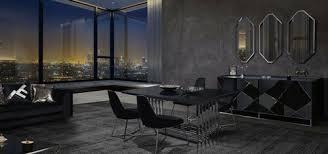 casa padrino luxus esszimmer möbel set silber schwarz 1 esstisch 6 esszimmerstühle esszimmer möbel luxus qualität