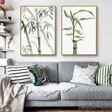 Amazoncom JESC Bamboo Leaf Poster Zen Decoration New Chinese