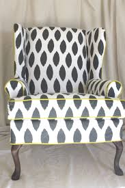 Chair Slip Cover Pattern by Furniture Wonderful Black And White Wingback Chair Slipcover For