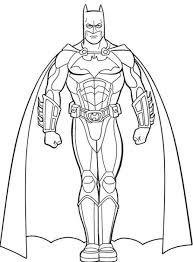 Coloring Pages Printable Batman Superhero