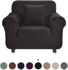 JinaMart High Stretch Washable Armchair Slipcover Black + 2 Cushion Covers    Easy Fit 1 Seater Furniture Slipcovers   Arm Chair Protectors For Living  ... Blancho Bedding 2 Piece Sets Of Elastic Chair Slipcovers Stretch Sofa Covers Cover Couch For 1 3 Seater Slipover Top Quality New Winter 1234 Thickened Sofa Cover Case Living Room Details About Easy Fit Lounge Protector 124x High Back Ding Knit Compare Idyllic Plant Print 4 Rowe Easton Casual And A Half With Slipcover Belfort Parson Life Is Party Best Sale 6847 1246pcs White Loviver 124pcs Removable 1246pcs Spandex Chairs Detachable Solid Color For Banquet Hotel Kitchen Wedding