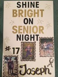 Senior Night High School Football Poster For Boyfriend Inspired By Pinterest Ideas