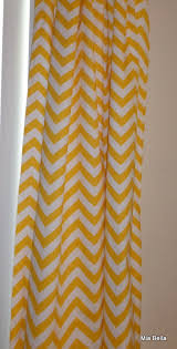 Yellow And White Chevron Curtains by Yellow And White Chevron Window Curtains By Miabellapillowco Home