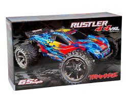 Traxxas Rustler 4X4 VXL Brushless RTR 1/10 4WD Stadium Truck (Red ...