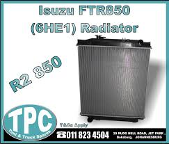 Isuzu FTR850 Radiator - New Replacement Truck Parts - TPC. | Junk Mail 13655 Euro Heavy Duty Truck Parts Replacement For Sc 4 5 6 Series Go Rhino Br10 Full Width Black Front Winch Hd Bumper Hvac Promotion Transteck Inc Commercial Pallet Northern Tool Equipment Isuzu Npr Nkr Ftr Cxz Truck Cab Sheet Metal Replacement Partswww S Catalogs Replacements Daf Toyota Dyna Camry 9604 New Tpc 2006 Acura Mdx Cabin Air Filter Inspirational Kn Car Truck Cabinlvo Fh High Roof Driving Cabin Ford F 100 Parts Bcford Birmingham Al Admirable Restoration