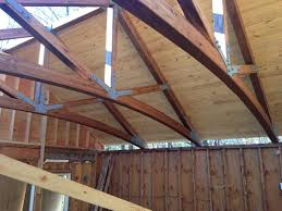 100 House Trusses Another Shot Of Our Glulam Truss For A Pool House Now With 2x6