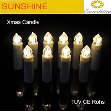 Christmas Tree LED Wax Dripping Taper Candle Lamp With Removable Clip
