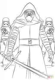 Click The Kylo Ren And First Order Stormtroopers Coloring Pages
