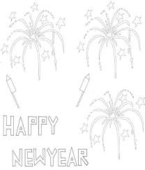 Printable Happy New Year Coloring Pages