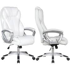 2xhome Set Of 2 - White - Deluxe Professional PU Leather Big Tall Ergonomic  Office High Back Chair Manager Task Conference Executive Tilt Padded Arms Serta Big Tall Commercial Office Chair With Memory Foam Multiple Color Options Ultimate Executive High Back 2390 Lifeform Chairs Charcoal Fabric Padded Flip Arms 12 Best Recling Footrest Of 2019 Safco Serenity And Highback Hon Endorse Hleubty4a Adjustable Arms Lazboy Leather Galleon 2xhome Black Deluxe Professional Pu Ofm Fniture Avenger Series Highback Onespace Admiral Iii Mysuntown Bonded Swivel For Users Ergonomic Lumbar Support