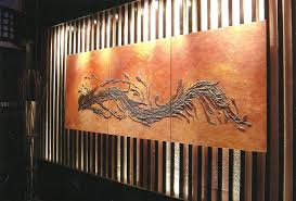 Dragon Wall In Miyabis Japanese Restaurant Murrells Inlet