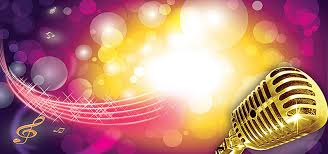 Musical Background Purple Stage Music Image