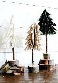 Tabletop Xmas Trees Wooden Bookcase Via A Alternative French By Design Small Led Christmas