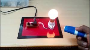 remote light bulb switch ece eee mini project school