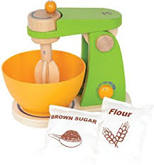 amazon com hape pop up toaster wooden play kitchen set with