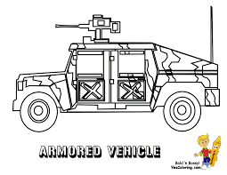 Gusto Army Coloring Pages Armored Vehicle Yescoloring
