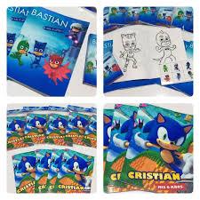 30 Libritos Para Colorear Personalizado Caja De Colores X6