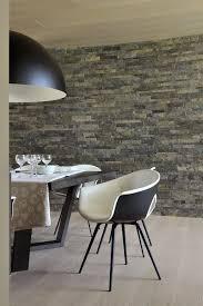 graue steinwand im esszimmer steinwand wohnzimmer