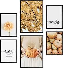 félice deko bilder für das wohnzimmer modern und angesagt premium poster set pumpkin season deko wand bild dekoration wohnung modern