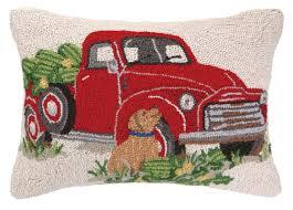 Red Decorative Lumbar Pillows by Peking Handicraft Truck Everyday Hook Wool Lumbar Pillow U0026 Reviews