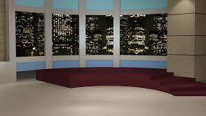 Stock Video Of News Tv Studio Set