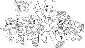 Printable Sweet Looking Paw Patrol Coloring Games Book Pages Chase Game Page For Your Free