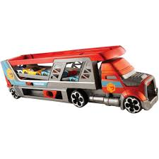 100 Disney Mack Truck Hauler Hot Wheels CDJ19 Mega Toy Garage For Diecast Cars On OnBuy