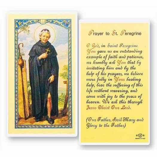 Stealstreet SS-Wjh-E24-514 Prayer to Saint Peregrine, Clear Holy Cards