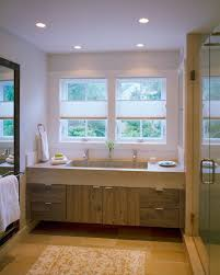 Trough Sink Vanity With Two Faucets by Boston Trough Sink Bathroom Beach Style With Edge Pulls Single