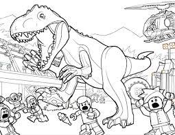 Coloring Page Velociraptor T Rex Jurassic World Tyrannosaurus