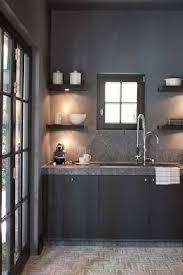 meuble cuisine complet chic la peinture anthracite pour des meubles de cuisine