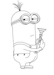 Despicable Me Character Kevin The Minion Coloring Page