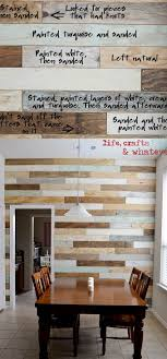 This DIY Plank Wood Wall Combines The Clean Look Of Shiplap With Rustic Charm Pallet Plus A Touch Weathered Grey And Coastal Blue