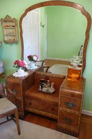 Waterfall Vanity Dresser Set by Lovely Deco Waterfall Vanity Mirror And Bench Vanities Bench