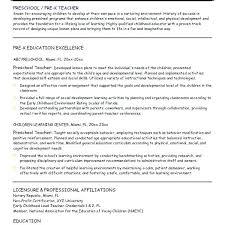 Teacher Resume Examples Assistant Sample Preschool Objective Nsw