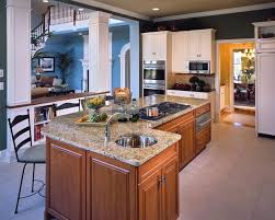 Incredible L Shaped Kitchen Island Layout With Round Stainless Steel Sinks Also A Pair Of