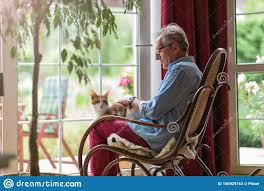 Senior Man Sitting In A Rocking Chair With His Cat In His ... Happy Calm African Girl Resting Dreaming Sit In Comfortable Rocking Senior Man Sitting Chair Homely Wooden Cartoon Fniture John F Kennedy Sitting In Rocking Chair Salt And Pepper Woman Sitting Rocking Chair Reading Book Stock Photo Grandmother Her Grandchildren Pensive Lady Image Free Trial Bigstock Photos Hattie Fels Owen A Wicker Emmet Pregnant Young Using Mobile Library Of Rocker Free Stock Png Files