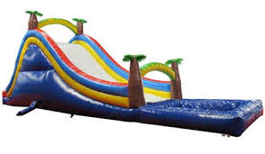 Tropical Palm Tree Inflatable Pool Slides For Sale