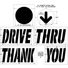 McDonalds Parking Lot Stencil Kit