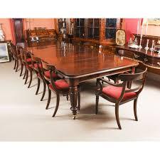 Antique William IV Mahogany Dining Table & 12 Bar Back ...
