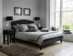 Wonderful Grey And White Bedroom Design Ideas With Black Bed Brown Carpet Elegant
