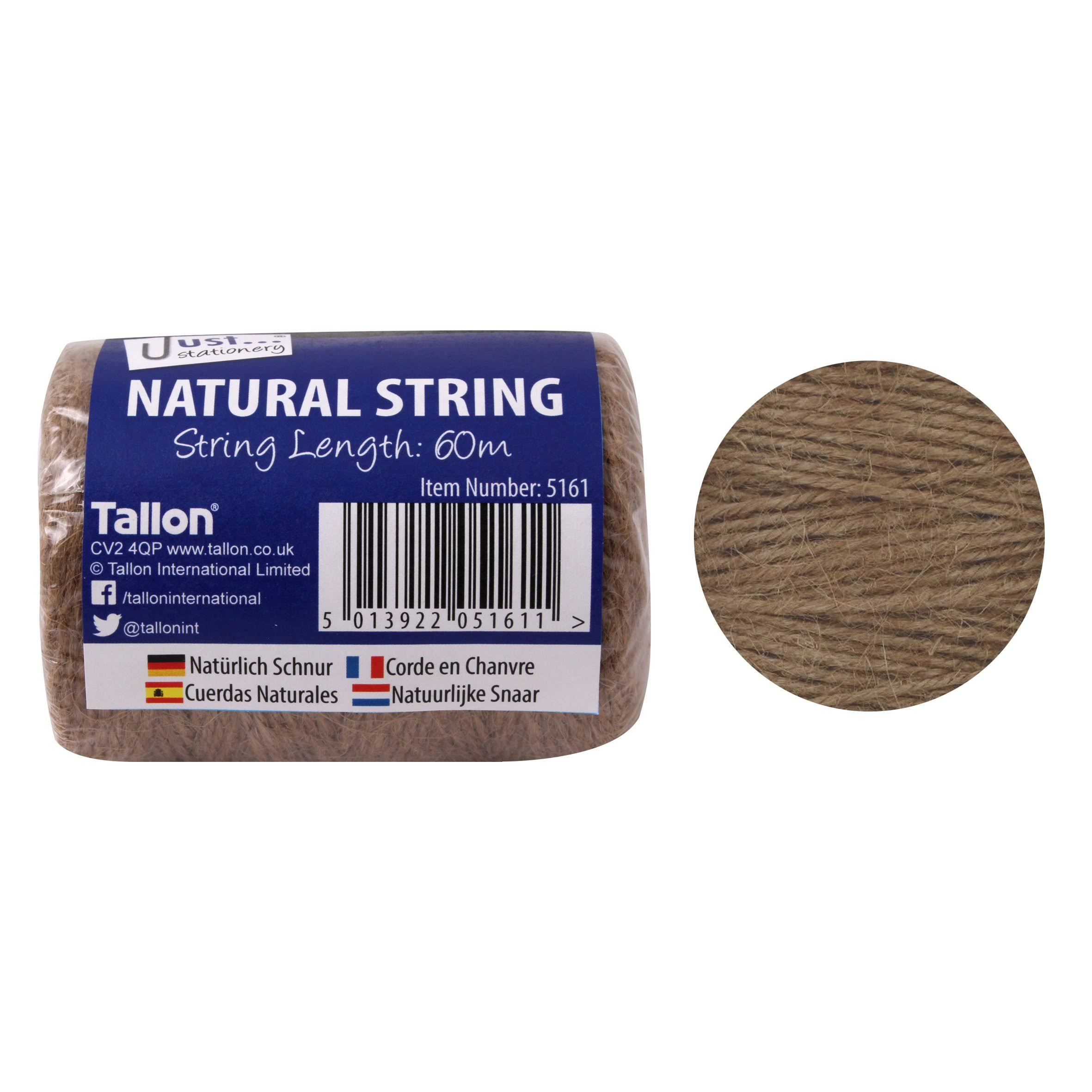 Atlona 60 Meter of Natural Garden Office Twine String Allotment Ties Tie Back Ball