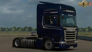 100 Euro Truck Simulator 3 Low Deck Improved Chassis For RJLs Scania RS R4 PG V1 By