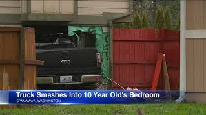 100 Truck Video DRAMATIC VIDEO Slams Into Bedroom As Girl 10 Sits On Bed