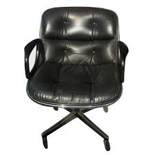 Knoll Pollock Chair Vintage by Black Leather Swivel Chair Modern Chairs Design