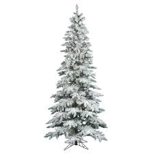 Flocked Artificial Christmas Trees Sale by 6 5 Ft Clear Pre Lit Flocked Slim Utica Fir Artificial Christmas Tree