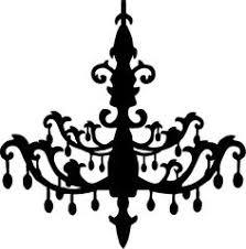 Chandelier Silhouette Clip Art
