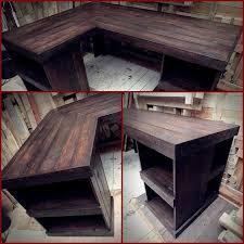 Handmade Recycled Pallet Corner Desk Left Hand By PalletBrighton
