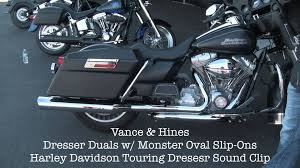 vacne and hines dresser duals exhasut harley davidson touring