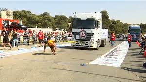 World's Strongest Men Compete In Truck Pulling Contest In Jordan ...